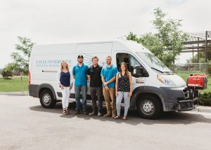 Eagle Synergistic's team of HRSC subsurface imaging specialists in front of field work van.